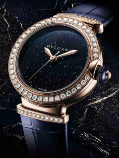 BVLGARI宝格丽LVCEA系列再添新作  全新砂金石腕表绽放华彩